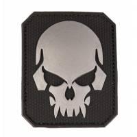Mil-Tec PVC 3D Skull Velcro Patch LG - Black