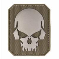 Mil-Tec PVC 3D Skull Velcro Patch LG - Olive