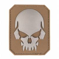 Mil-Tec PVC 3D Skull Velcro Patch LG - Dark Coyote