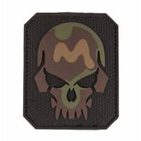 Mil-Tec PVC 3D Skull Velcro Patch LG - Camo
