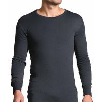 Heat Holders Men Thermal Long Sleeve Vest - Charcoal
