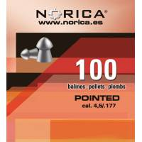 Norica Pointed 4,5mm Pellets - 100pcs