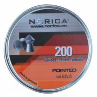 Norica Pointed H&N 6,35mm Pellets - 200pcs