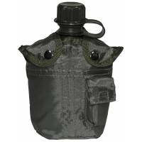 MFH US Canteen 1L w/ Cover - Olive