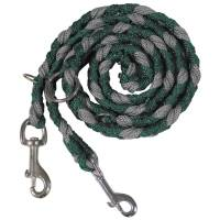 MFH Dog Leash Braided - Green / Grey
