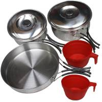 MFH Mess Kit Stainless Steel Large