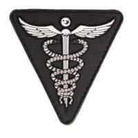 Mil-Tec PVC 3D Medical Patch - Black
