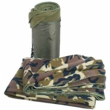 Mil-Tec Fleece Blanket 200x150cm - Woodland