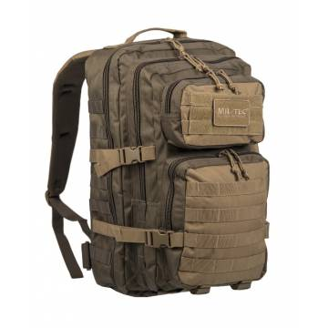 Mil-Tec US Assault 36L Backpack LG - Ranger Green / Coyote