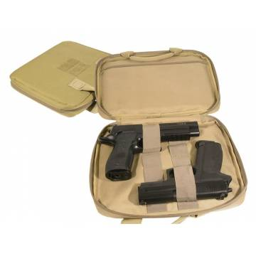 Swiss Arms Pistol Case 2 pistols (Tan)