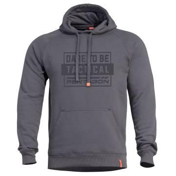 Pentagon Phaeton DT Hood Sweater - Cinder Grey