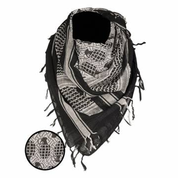 Mil-Tec Shemagh Scarf Pineapple - Black / White
