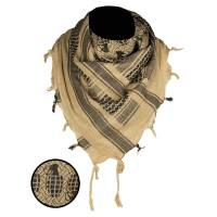 Mil-Tec Shemagh Scarf Pineapple - Coyote / Black