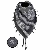 Mil-Tec Shemagh Scarf Skull - Black / White