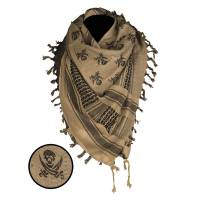 Mil-Tec Shemagh Scarf Skull - Coyote / Black
