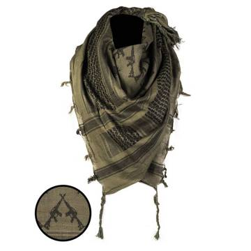 Mil-Tec Shemagh Scarf Rifles - Olive / Black