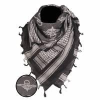 Mil-Tec Shemagh 110x110cm - Black / White