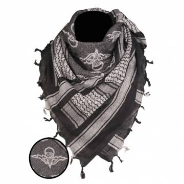 Mil-Tec Shemagh Scarf Paratrooper - Black / White