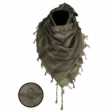 Mil-Tec Shemagh Scarf Paratrooper - Olive / Black