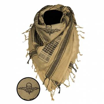 Mil-Tec Shemagh Scarf Paratrooper - Coyote / Black