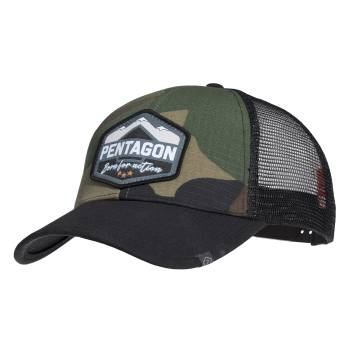 Pentagon Era Trucker Cap (Born for Action) Woodland