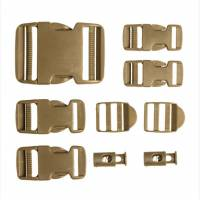 Mil-Tec Buckle Set 9 pcs - Coyote