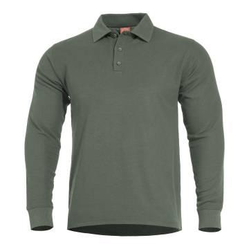 Pentagon Aniketos Polo Long Shirt - Camo Green