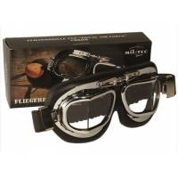 Mil-Tec Royal Air Force Aviator Goggles - Chrom