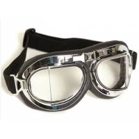 Mil-Tec Royal Air Force Aviator Goggles - Plastic Chrom