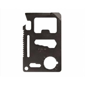 Mil-Tec Survival Tool Card - Black