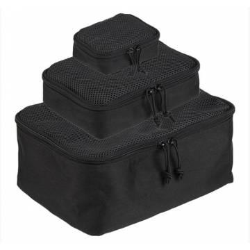Mil-Tec Mesh Pouch Set - Black