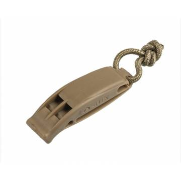 Mil-Tec Tactical Signaling Whistle Molle - Coyote
