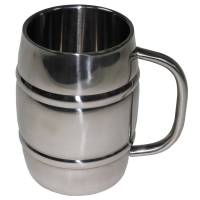 MFH Mug Barrel 1000ml (Double Walled) Stainless Steel