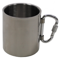 MFH Double Walled Cup Stainless Steel 300ml