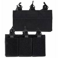 Mil-Tec Triple Open Magazine Pouch - Black