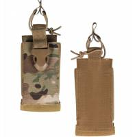 Mil-Tec Radio Pouch Hook Closure Backside - Multicam