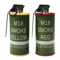 G&G M18 Smoke Grenade BB Can set (Yellow/Red)