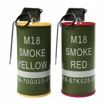 G&G M18 Smoke Grenade BB Can set (Yellow/Red)