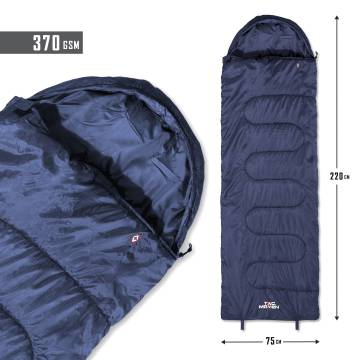 Tac Maven Major Sleeping Bag 370gr - Midnight Blue