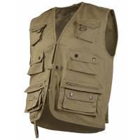 Mil-Tec Hunting and Fishing Vest - Khaki