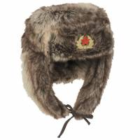 Mil-Tec Russian Shapka Winter Cap - Brown