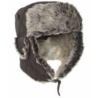 Mil-Tec Winter Cap w/ Faux Fur - Black
