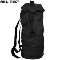 Mil-Tec US Pol Double Strap 75L Duffle Bag - Black