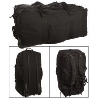 Mil-Tec Combat Duffle Bag 118L w/ Wheel - Black