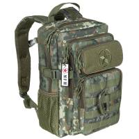 MFH US Assault Youngster 15L Backpack - Flecktarn