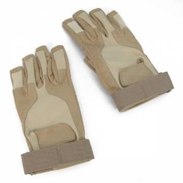 King Arms SOS Gloves - Half Finger (TAN)