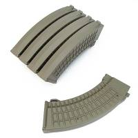 King Arms AK 110rds Polish Type Mags Box Set (5pcs) - DE