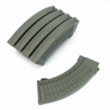 King Arms AK 110rds Polish Type Mags Box Set (5pcs) - OD