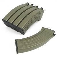 King Arms AK 70rds Waffle Pattern Mag Box Set (5pcs) - DE