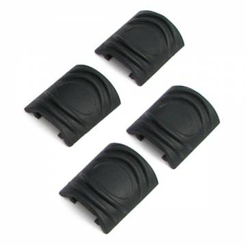 King Arms Rail Cover - 3 Ribs (4pcs-BK)